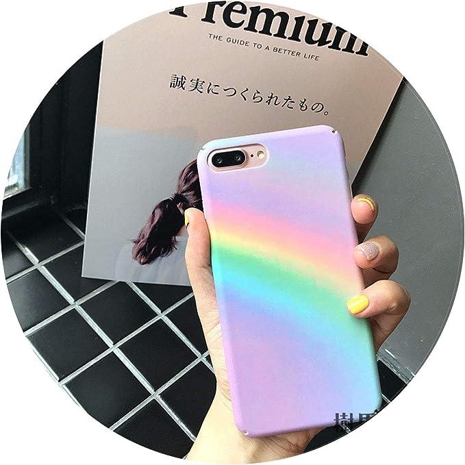 dégradé arc-en-ciel Coque de protection pour iPhone 6 6S 7 8 Plus Coque coloré Art abstrait Coque arrière pour iPhone X Cases fundas For iPhone 6 6S ...