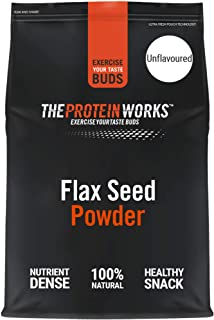 THE PROTEIN WORKS Pure Flax Seed Powder   100% Natural, Vegan   Nutrient-Dense   Unflavoured   500 g