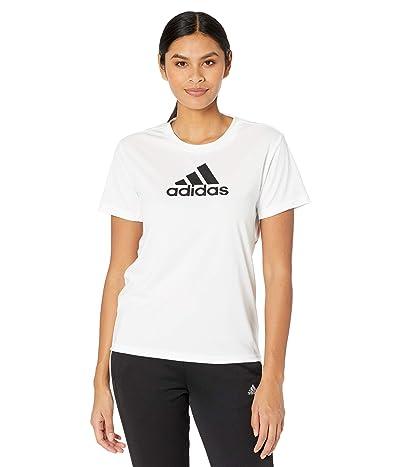 adidas Primeblue Designed 2 Move Logo Sport Tee (White/Black) Women