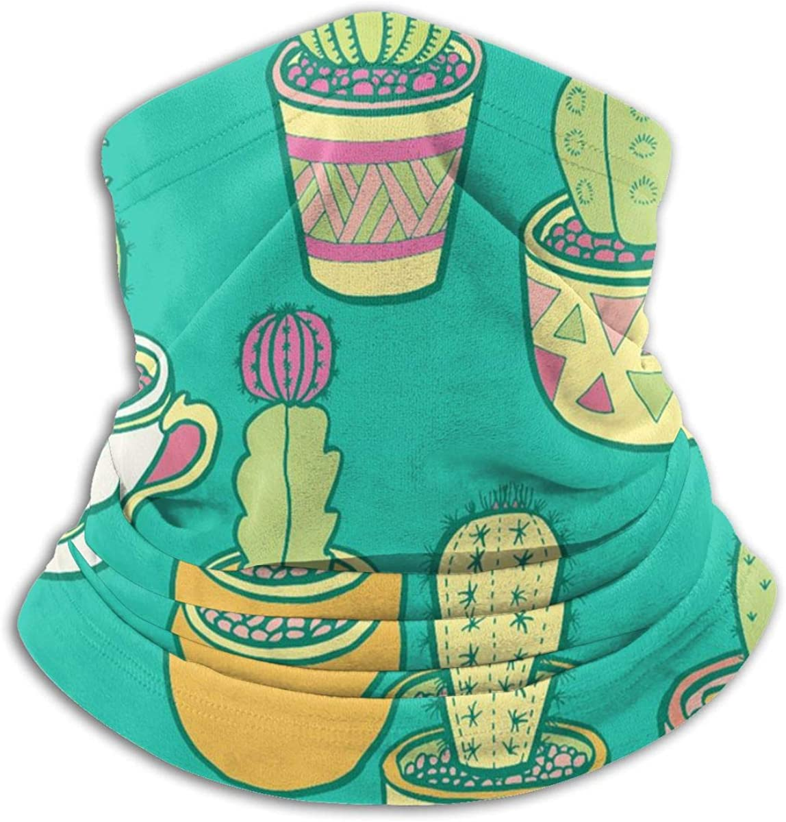 Warm Neck Warmer Cactus Garden UV Protection Fashion Cold Weather Neck Gaiters Head Scarf For Skiing