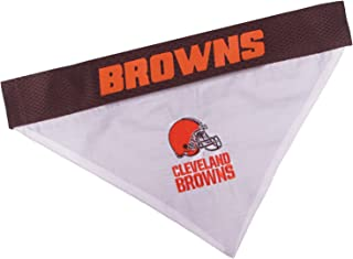 Dog Bandana with Dog Collar & Reversible Bandana. 32 NFL Licensed Teams Available in 3 Sizes