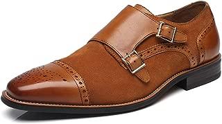 La Milano Mens Leather Double Monk Strap Loafer