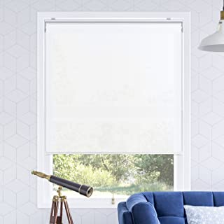 Chicology Cordless Roller Shades Snap-N'-Glide, Light FilteringPerfect for Living Room/Bedroom/Nursery/Office and More.Urban White (Light Filtering), 48