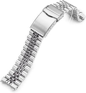 Bracelet en métal 20 mm compatible avec Seiko SPB143, Super-J Louis Brushed Fermeture V