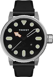 TSOVET Swiss NM111010-01 Men's Black Dial Stainless Steel Field Watch