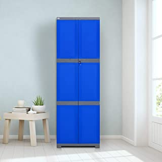 Nilkamal Freedom Mini Large FML Plastic Storage Cabinet | Weathered Brown & Biscuit