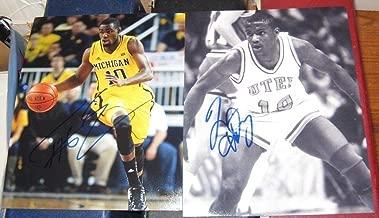 Tim Hardaway UTEP Tim Hardaway JR Michigan SIGNED 8x10 Photos COA Autographed - Autographed College Photos