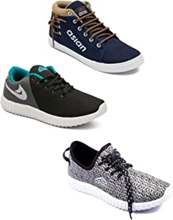 Asian Men's Casual Shoes Combo Pack of 3-0301-M567