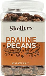 Shellers - Delicious and crunchy Praline Pecans jar of 2.3 lbs (37 oz) Very fresh and sweet candy coated sn...