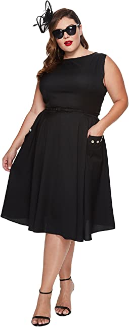 Unique Vintage Plus Size Eden Sleeveless Dress