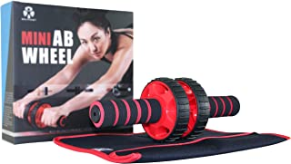 Balance 1 Ab Wheel Travel Kit- Ab Exercise Training Wheel with Free Knee pad Pouch- Get 6 Pack Abs Anywhere!