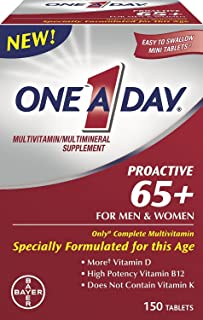 One A Day Proactive 65+ Mens & Womens Multivitamin, Supplement with Vitamin A, Vitamin C, Vitamin D, and Zinc for Immune H...