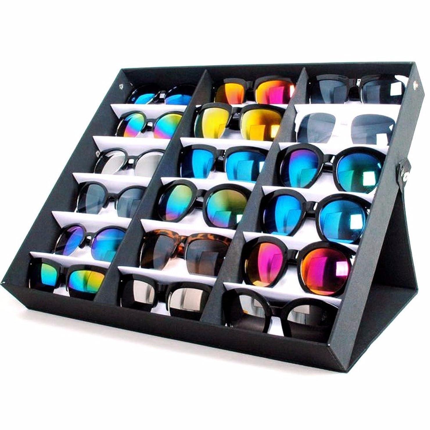 フリースくちばしアルカトラズ島Yumbyss - 18サングラスメガネ小売店展示スタンド収納ボックスケーストレイブラックサングラス?アイウェアを表示トレイケーススタンド