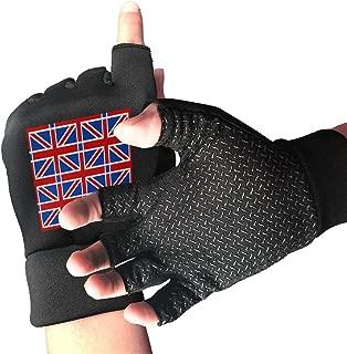 WAYOULUCK Men's Women's UK Flag Gym Workout Gloves Training Glove