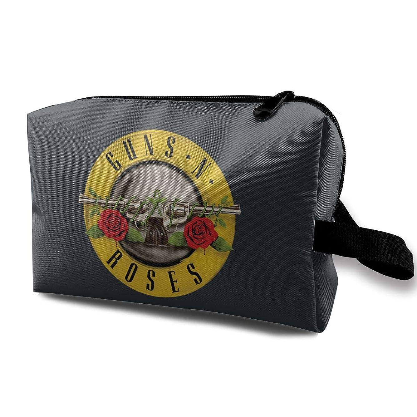 社会学絶縁する困った化粧ポーチ メイクポーチ 小物入れ コスメ 高品質 大容量 旅行バッグ 普段使い 軽量 使い便利 メイクボックス スポーツ 贈り物 GNR Guns N' Roses Logo