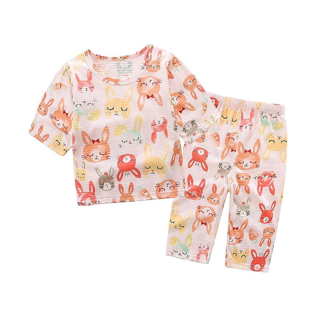 動力学新鮮な拡声器BLOMDES ボーイズ パジャマ 七分袖 寝間着 動物柄 上下セットキッズパジャマ カジュアル