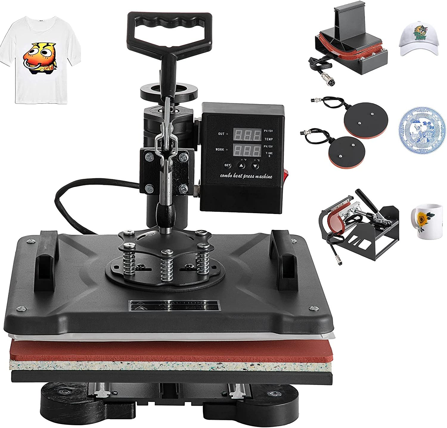 Hihone 5 in 1 Heat Press Sublimation Challenge the In a popularity lowest price Trans Digital 12 x 15