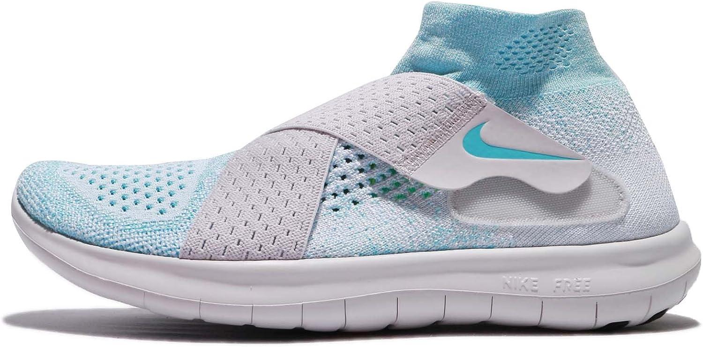 Nike Free RN Motion Flyknit 2017 Women Glacier bluee Vast Grey Pure Platinum 880846-402
