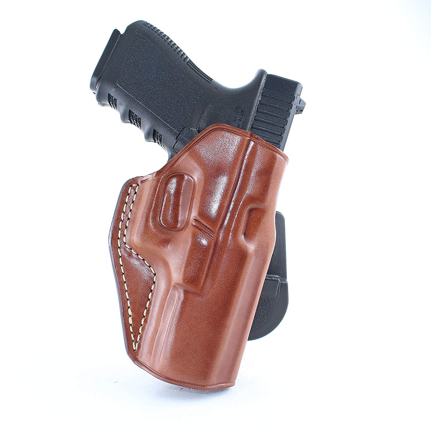 Premium Leather Paddle Holster Compact