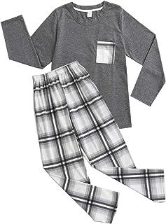 بيجامات BYX SweetLeisure للأولاد الكبار من القطن الفضفاض أعلى القاع صالة ملابس نوم للمراهقين مقاس 10 12 14 16