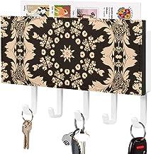 Crochet à clé mural, trieur de courrier, dessin au trait beige et marron Design décor à la maison pour salle d'entrée, pré...