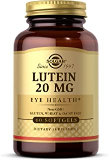 Solgar Lutein 20 mg, 60 Softgels - Supports Eye Health - Helps Filter Out Blue-Light - Contains FloraGLO Lutein - Non-GMO,...