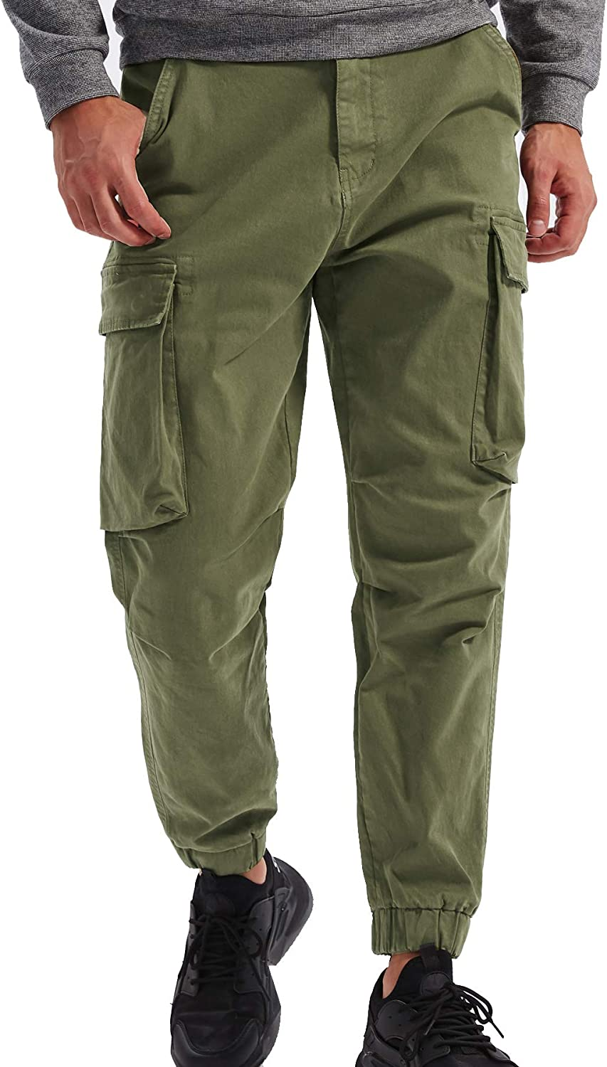 DONGD Mens Cargo Pants Casual Bombing free shipping Cotton Tactical P Camo Combat Large special price Work