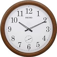 Seiko Side Second Wall Clock QXA155B, Brown, 50.5 cm x 50.5 cm x 6.2CM