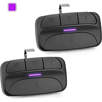 Refoss Garage Door Opener Remote, Purple Learn Button Compatible with Chamberlain Craftsman Liftmaster 371LM, 373LM Security+ 315MHz - 2 Pack
