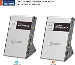 weJupit Zero Latency Wireless 4k HDMI Extender, Up to 30M (100ft) 4K@30Hz HDCP 1.4 with CEC Function for Desktop Computer, Laptop, Gaming and Live TV (WJEXT15-4)