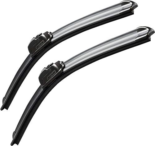 "MOTIUM OEM QUALITY 26"" + 20"" Premium All-Season Windshield Wiper Blades (Set of 2)"