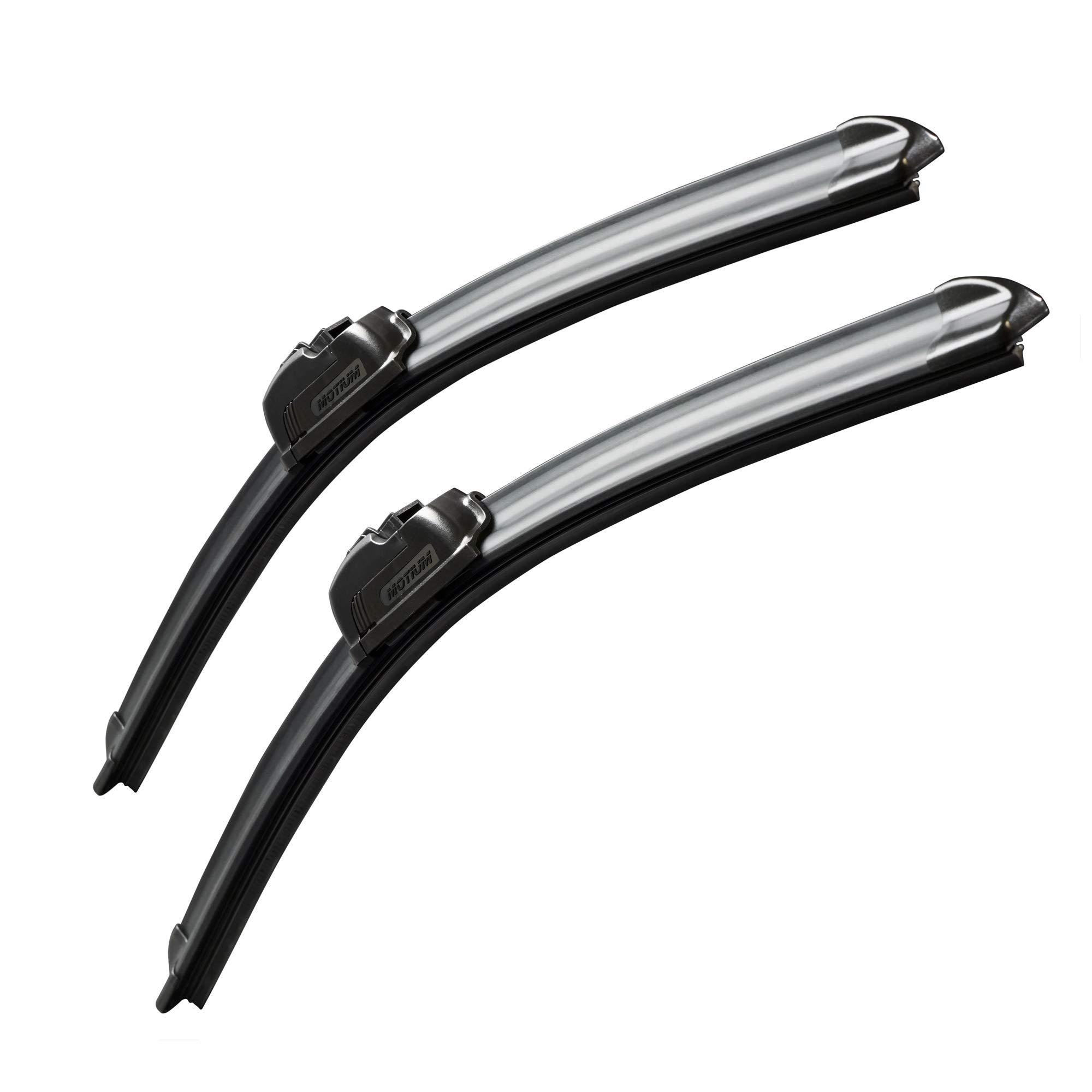 MOTIUM OEM QUALITY 18 + 18 Premium All-Season Windshield Wiper Blades,1 Year Warranty(Set of 2)