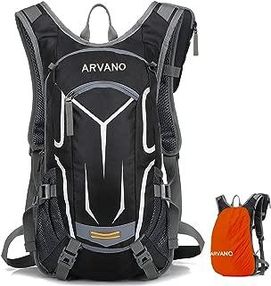 Arvano Mountain Bike Backpack Cycling Backpack - 18L Breathable Biking Backpack Lightweight Ski Rucksack with Rain Cover, Bicycle Backpack for Running Biking Skiing Fits Men Women [ Upgraded 2019 ]