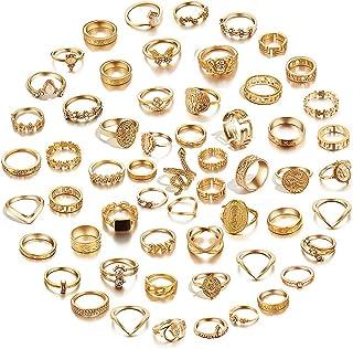 59 Pcs Vintage Knuckle Rings Set Stackable Finger Rings...