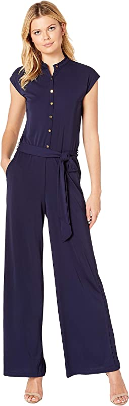 Buttoned Jersey Jumpsuit