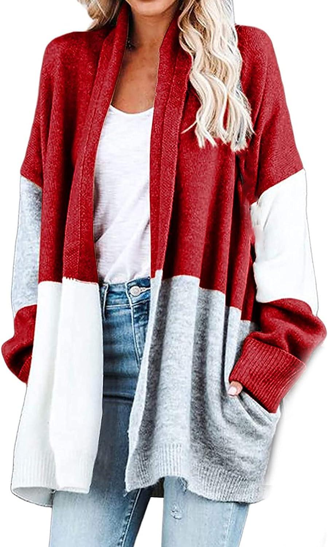 Fashion Jacket Coat Women's Long Sleeve Color Matching Autumn Cardigan Coat Blouse