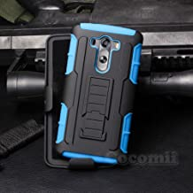 Cocomii Robot Armor LG V10/G4 Pro Case New [Heavy Duty] Premium Belt Clip Holster Kickstand Shockproof Hard Bumper Shell [Military Defender] Full Body Dual Layer Rugged Cover for LG V10 (R.Blue)
