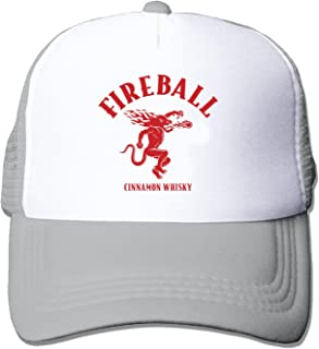 Fireball Whisky Unisex Adjustment Mesh Trucker Cap Hat Black (5 colors)