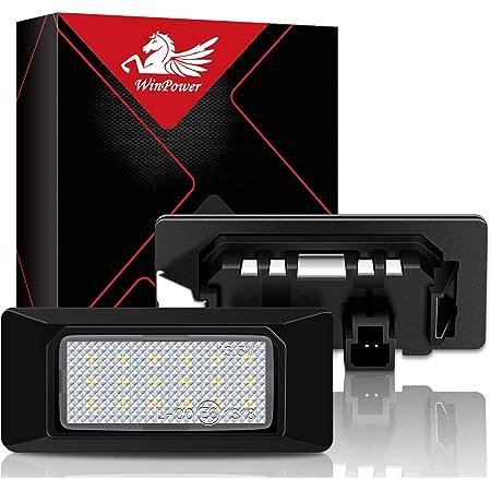Winpower Nummernschild Licht Birne Kit 6000k Xenon Weiß Kein Fehler Lampe 18 Smd Upgrade Kennzeichenbeleuchtung Lichter 2 Stücke Auto