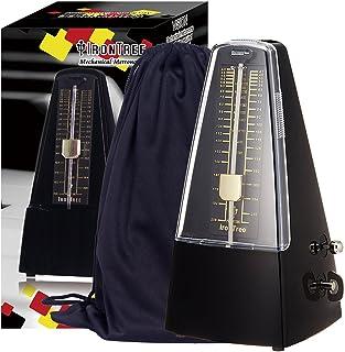 IronTree メトロノーム 振り子 袋を贈る ブラック (ブラック)
