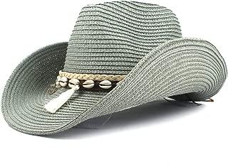 SXQ Summer Men's Women's Straw Hat Casual Denim Sunproof Western Cowboy Hat Fedora Hat Outdoor Travelling Beach Sun Hat With Tassel Decoration Gentlemen's Hat UV Protective Visor Cowgirl Hat For Vocat