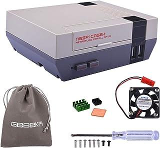 Retroflag NESPi Case+ Plus Functional Power Button with Safe Shutdown & Cooling Fan & Heatsinks & Flannel Bag for RetroPie...