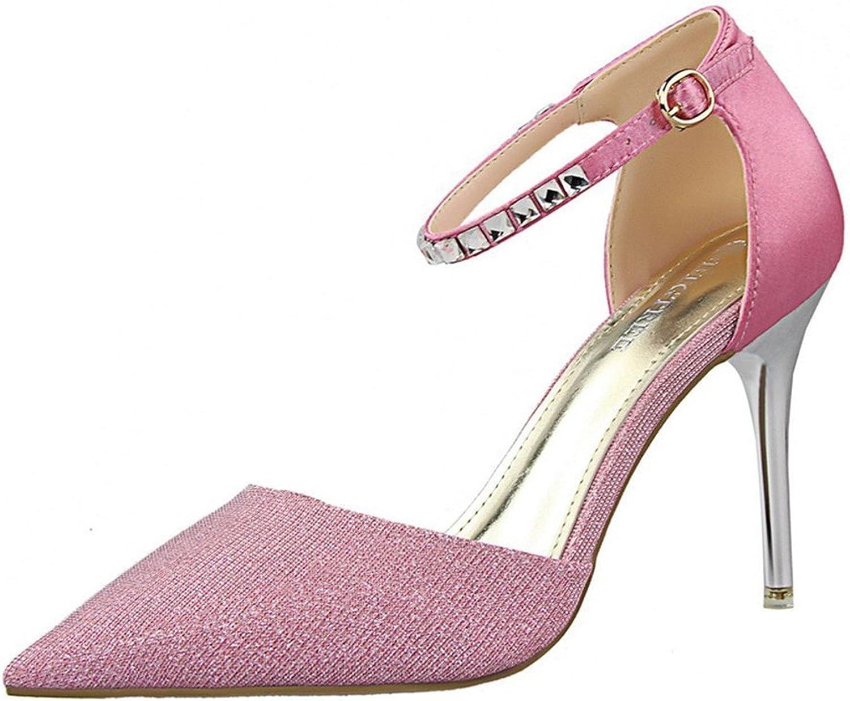 Tirahse Comfortable Women's Fashion PU Ankle Strap D'Orsay Pump
