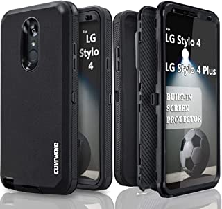 LG Stylo 4 / Stylo 4 Plus/Stylo 4 + Case, COVRWARE [Tri Series] with Built-in [Screen Protector] Heavy Duty Full-Body Triple Layers Protective Armor Case, Black