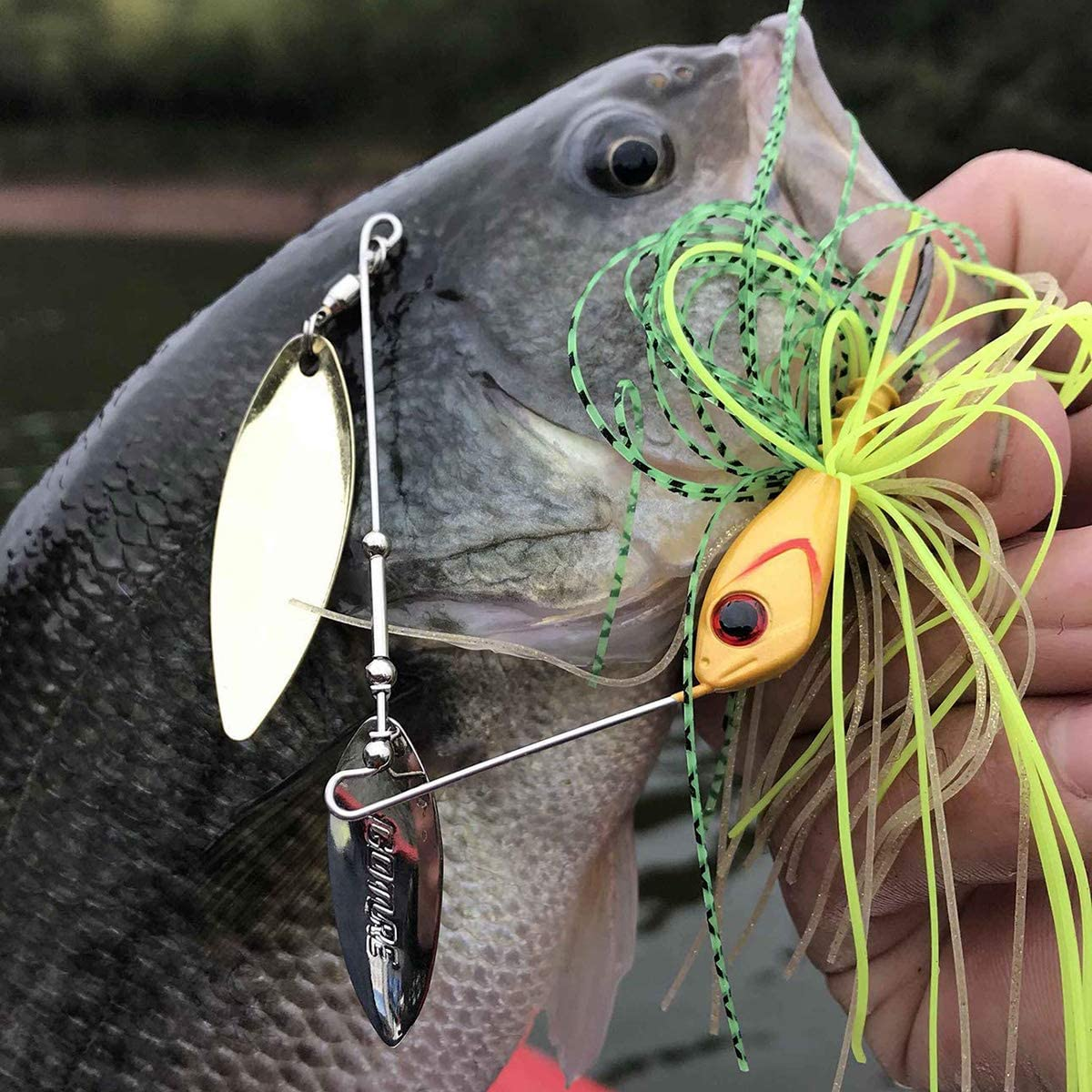 NEW before selling ☆ Cheap mail order specialty store Goture Bass Fishing Lure Spinner Baits Hook MUSTAD Kit Jigs