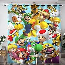 Exclusieve huisgordijnen Game Super Mario mario broers anime poster verduisteringsgordijnen voor slaapkamer, keuken en woo...