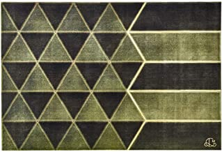 Green Rectangular Home Study Rug Meditation Pad Living Room Mat 0.9CM Non-Slip Rugs Gift (Color : Green, Size : 140 * 200 ...
