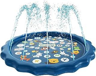 Toddler Toys - 170cm Splash Pad, Sprinkler & Splash Play Mat for Toddlers, Inflatable Outdoor Party Sprinkler Pad Wading P...