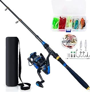 AlwaysGO Fishing Rod and Reel Combos with Fishing Line,...