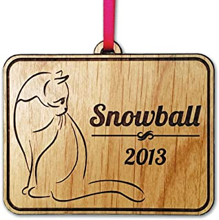 Personalized Cat Christmas Tree Ornament 2018 Holiday Pet Decor Gift First Kittens Christmas Ornament Present